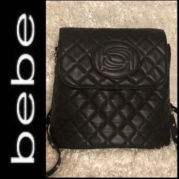 6882ddcabe bebe Bags | Olivia Icon Logo Backpack | Poshmark